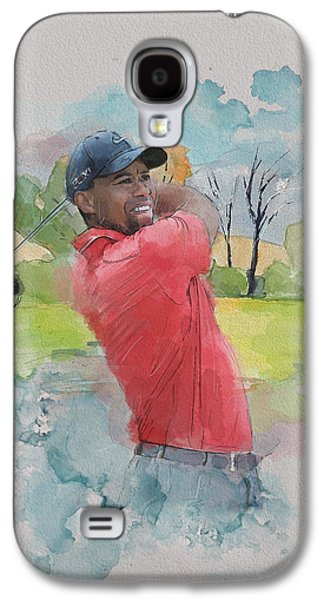 Tiger Woods Galaxy S4 Case by Catf