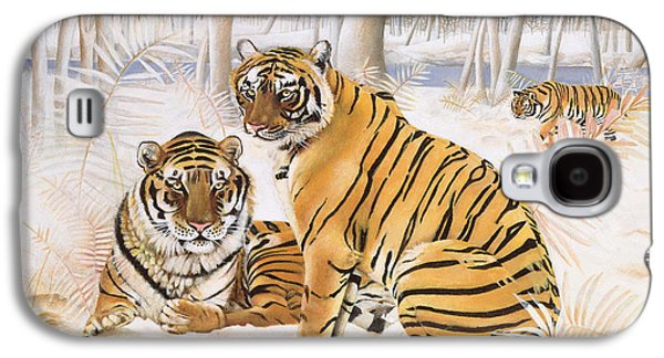 Tigers In The Snow, 2005 Acrylic On Canvas Galaxy S4 Case by E.B. Watts