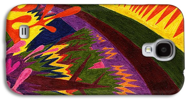 Tile 47 - Sunset Over Mountains Galaxy S4 Case by Sean Corcoran