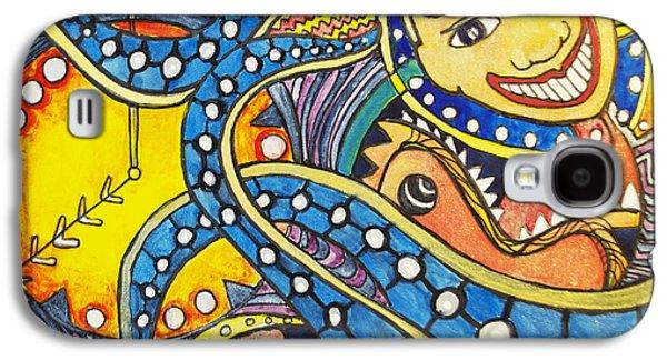 Tillies Funhouse Design Galaxy S4 Case by Patricia Arroyo