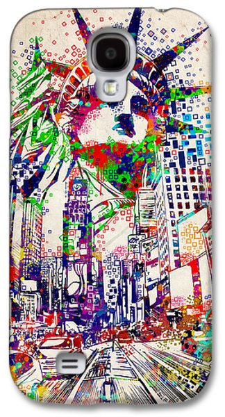 Times Square 3 Galaxy S4 Case by Bekim Art