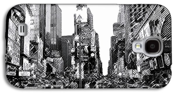 Times Square   New York City Galaxy S4 Case by Iconic Images Art Gallery David Pucciarelli