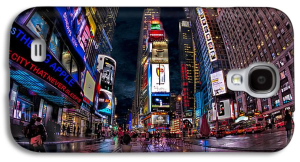Times Square New York City The City That Never Sleeps Galaxy S4 Case by Susan Candelario