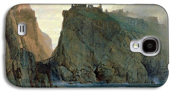 Tintagel On The Cornish Coast Galaxy S4 Case by W T Richards