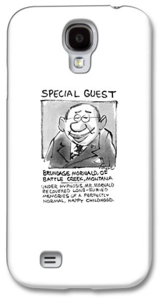 Today's Special Guest Brundage Mornald Galaxy S4 Case by Lee Lorenz
