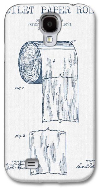 Toilet Paper Roll Patent Drawing From 1891  - Blue Ink Galaxy S4 Case