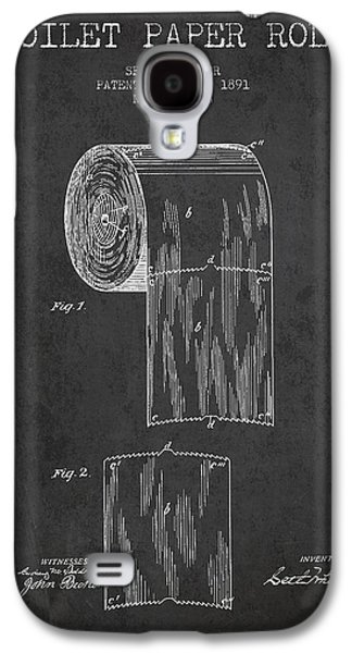 Toilet Paper Roll Patent Drawing From 1891 - Dark Galaxy S4 Case