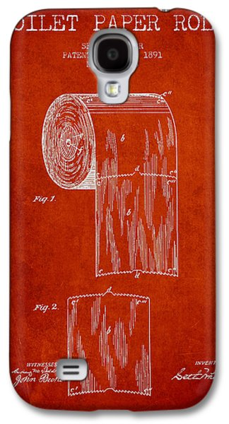 Toilet Paper Roll Patent Drawing From 1891 - Red Galaxy S4 Case