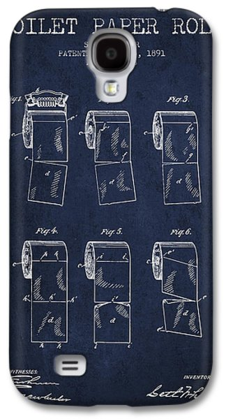 Toilet Paper Roll Patent From 1891 - Navy Blue Galaxy S4 Case