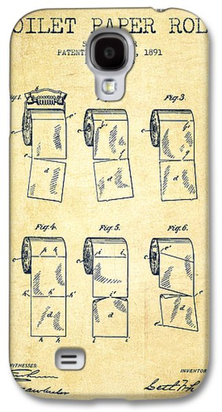 Toilet Paper Roll Patent From 1891 - Vintage Galaxy S4 Case