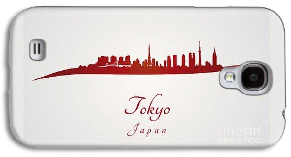 Tokyo Skyline In Red Galaxy S4 Case