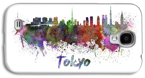 Tokyo Skyline In Watercolor Galaxy S4 Case by Pablo Romero