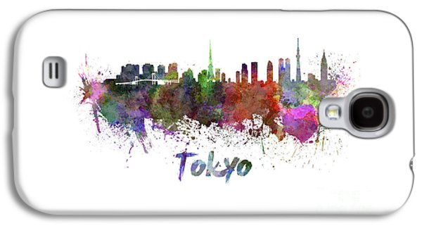 Tokyo Skyline In Watercolor Galaxy S4 Case