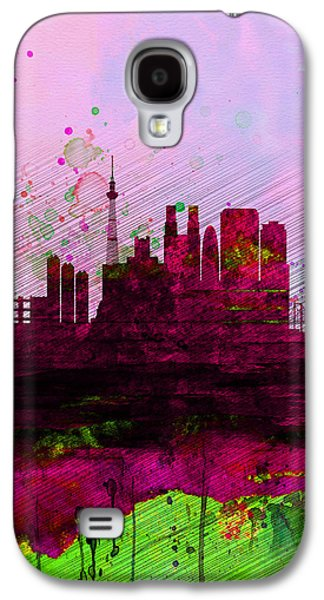 Tokyo Watercolor Skyline Galaxy S4 Case by Naxart Studio
