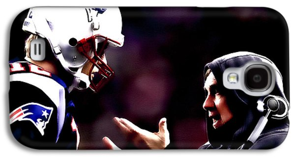 Tom Brady And Coach Galaxy S4 Case by Brian Reaves
