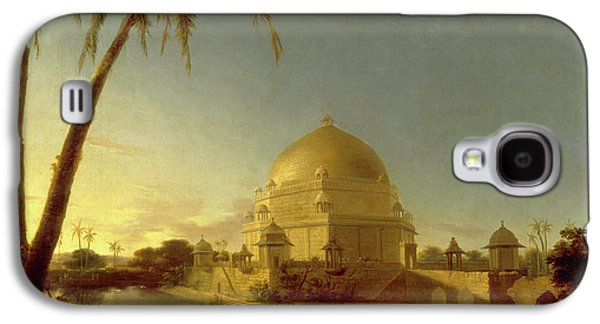 Tomb Of Sher Shah, Sasaram, Bihar Signed In Black Paint Galaxy S4 Case by Litz Collection