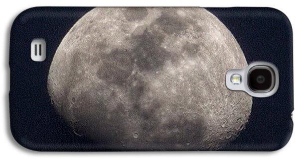Tonight's Gibbous Moon #moon #night Galaxy S4 Case