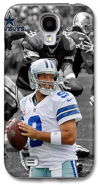 Tony Romo Cowboys Galaxy S4 Case by Joe Hamilton