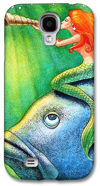 Toot Your Own Seashell Mermaid Galaxy S4 Case by Sue Halstenberg