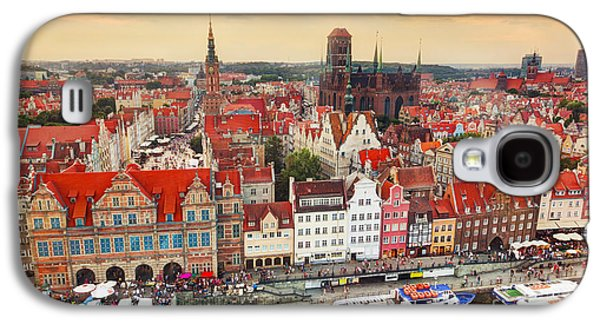 Top View On Gdansk Old Town And Motlawa River Galaxy S4 Case by Michal Bednarek