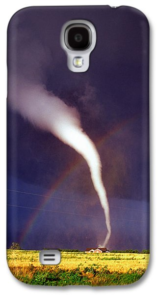 Tornado With Rainbow In Mulvane Kansas Galaxy S4 Case