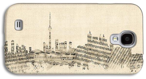 Toronto Canada Skyline Sheet Music Cityscape Galaxy S4 Case by Michael Tompsett