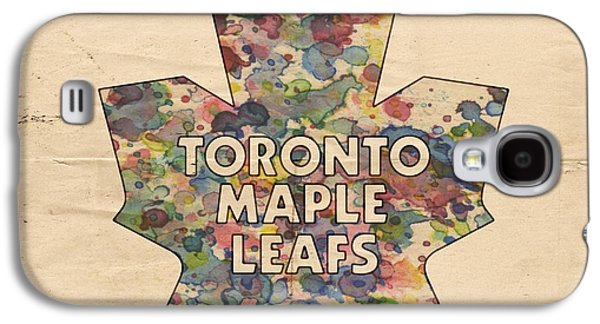 Toronto Maple Leafs Hockey Poster Galaxy S4 Case
