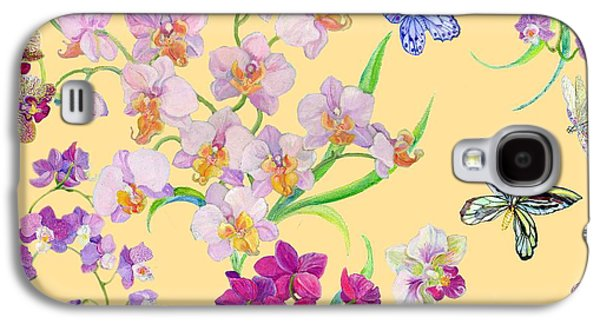 Tossed Orchids Galaxy S4 Case by Kimberly McSparran