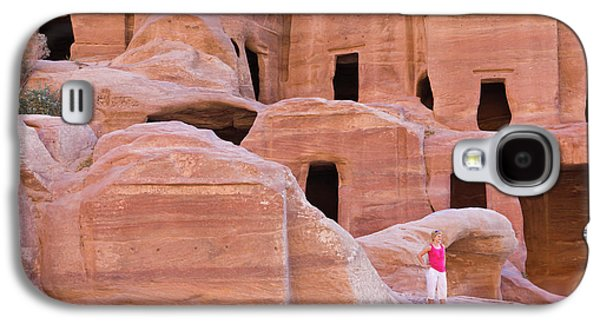 Tourist With Uneishu Tomb, Petra Galaxy S4 Case by Keren Su