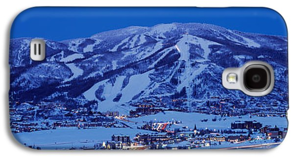 Tourists At A Ski Resort, Mt Werner Galaxy S4 Case by Panoramic Images