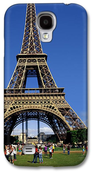 Tourists At Eiffel Tower, Paris Galaxy S4 Case by Panoramic Images