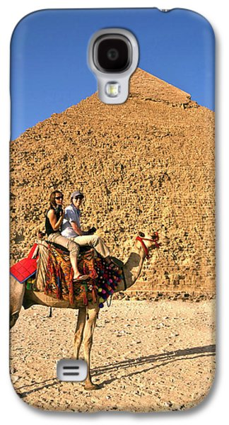Tourists Ride A Camel In Front Galaxy S4 Case