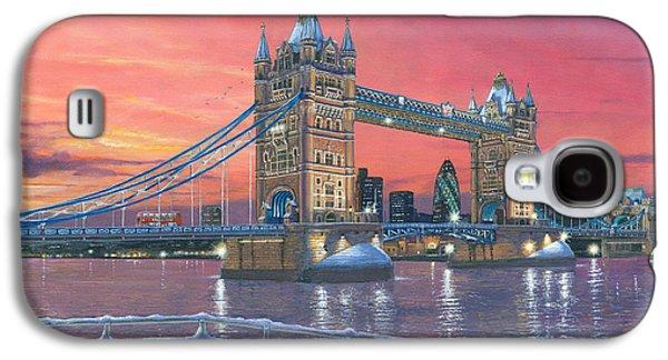 Tower Bridge After The Snow Galaxy S4 Case by Richard Harpum