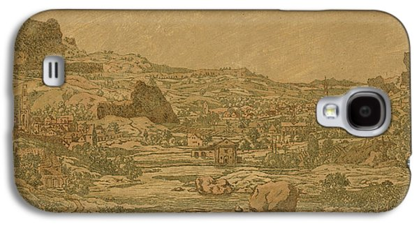 Town With Four Towers Galaxy S4 Case by Hercules Segers
