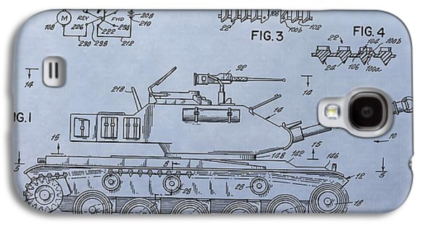 Toy Army Tank Patent Galaxy S4 Case by Dan Sproul