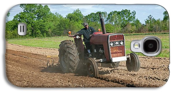 Tractor Ploughing A Field Galaxy S4 Case by Jim West