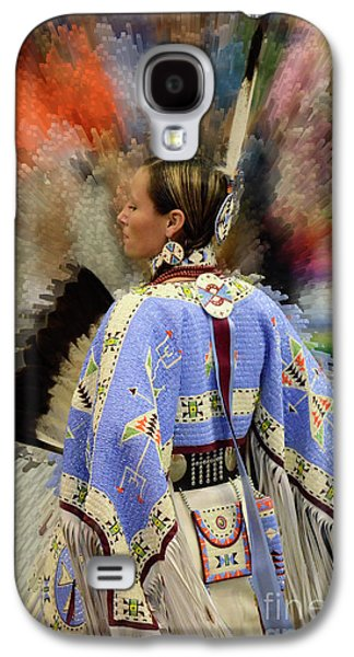 Pow Wow Traditional Dancer 2 Galaxy S4 Case by Bob Christopher