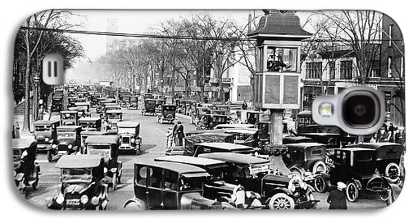 Traffic Control In Detroit Galaxy S4 Case by Library Of Congress