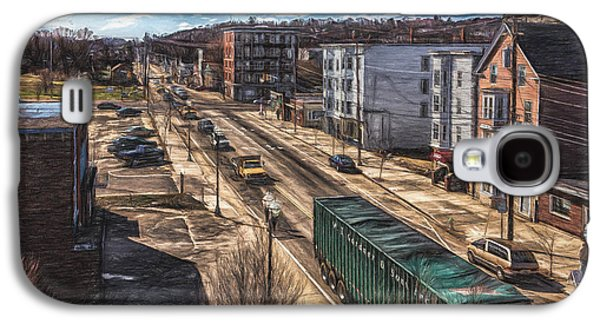 Traffic On Lincoln Street Galaxy S4 Case by Bob Orsillo