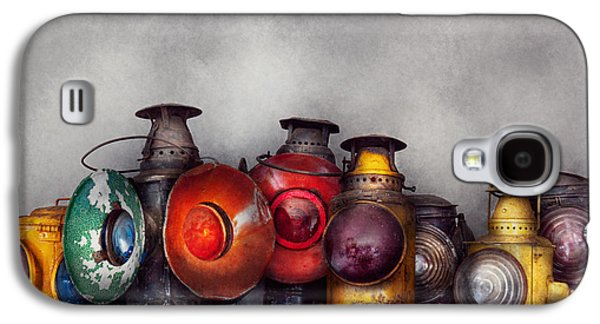Train - A Collection Of Rail Road Lanterns  Galaxy S4 Case by Mike Savad