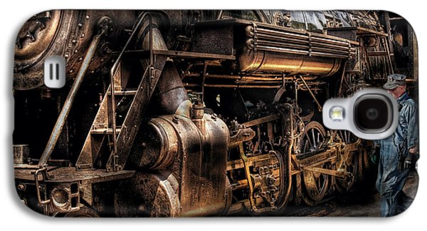 Train - Engine -  Now Boarding Galaxy S4 Case by Mike Savad
