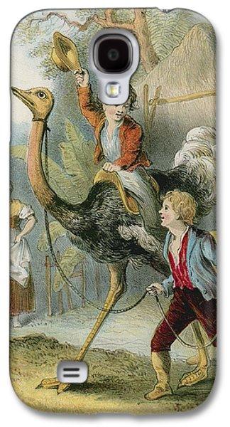 Ostrich Galaxy S4 Case - Training The Ostrich by English School