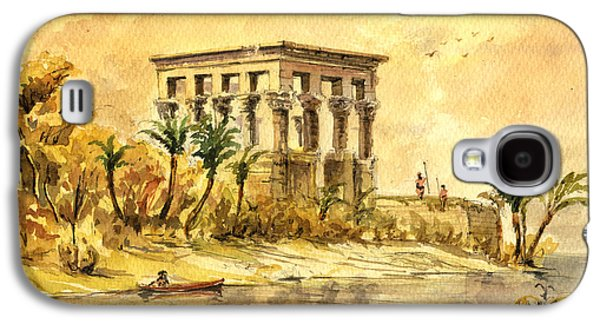 Trajan Kiosk Temple Aswan Egypt Galaxy S4 Case by Juan  Bosco