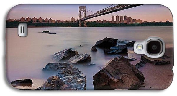 Tranquility By The George Washington Bridge Galaxy S4 Case by Poliana DeVane