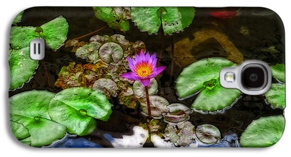 Tranquility - Lotus Flower Koi Pond By Sharon Cummings Galaxy S4 Case by Sharon Cummings