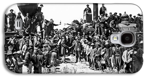Transcontinental Railroad Galaxy S4 Case by Underwood Archives