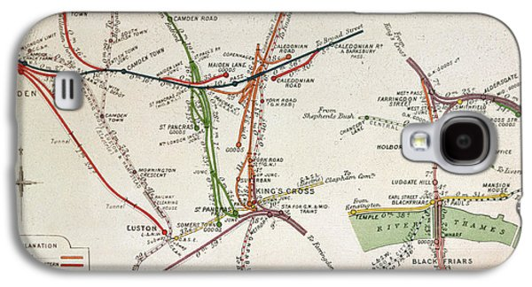Transport Map Of London Galaxy S4 Case