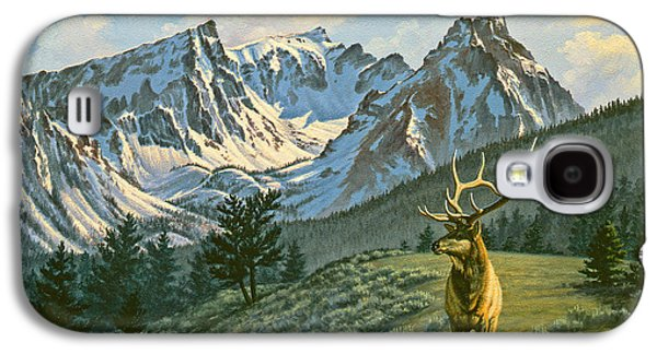Bull Galaxy S4 Case - Trapper Peak - Bull Elk by Paul Krapf