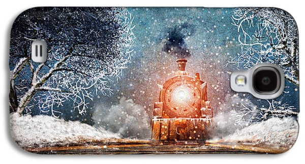 Traveling On Winters Night Galaxy S4 Case