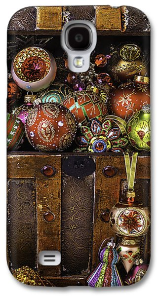 Treasure Box With Christmas Ornaments Galaxy S4 Case